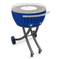 LOTUSGRILL - barbecue à charbon portable 60cm bleu avec housse - lg-tb-600