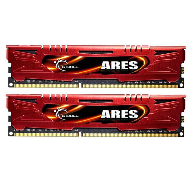 G.SKILL Memoire kit de 2 barrettes Gskill Ares DDR3 PC3-17000 - 2 x 8 Go 16Go, 2133 Mhz - CAS 11 Memoire kit de 2 barrettes Gskill Ares DDR3 PC3-17000 - 2 x 8 Go (16Go) 2133 Mhz - CAS 11 - Compatible uniquement avec les cartes-mères supportant la DDR3