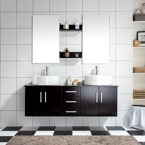 ensemble meuble salle de bain ares w 2 vasque 2miroir