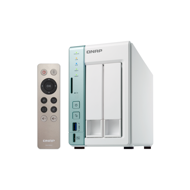 QNAP TS-251A-4G Nas 2 baies efficace pour la lecture et transcodage HDMI 4K Ultra HD accéléré matériellement
