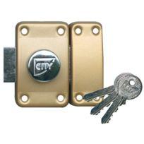 CAVERSISEO - Verrou ISEO City 25 à bouton - Cylindre 50 mm - Sur variure N V04 - 10020502
