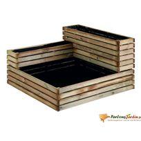 Jardipolys - Carré de potager modulable en bois traité Küb