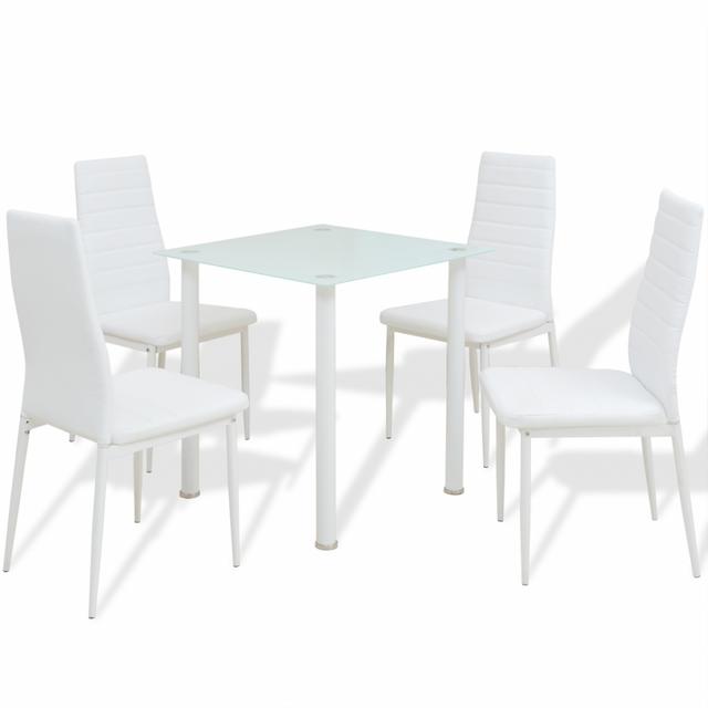 Vidaxl Ensemble de meuble salle à manger 5 pièces Blanc