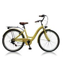 "Descheemaker - Vélo Fille Amazone 26"" Crème 2017"