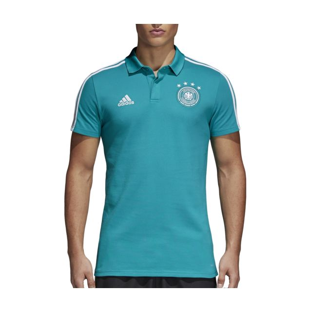 Adidas performance Polo Allemagne Vert pas cher Achat