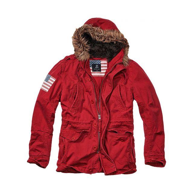 Passeport Parka StarsStripes Brandit Red Usa Vintage Explorer YfbgIy76v