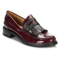 Tower Footwear - Tower Womens Burgandy Patent Leather Loafers-EU 38