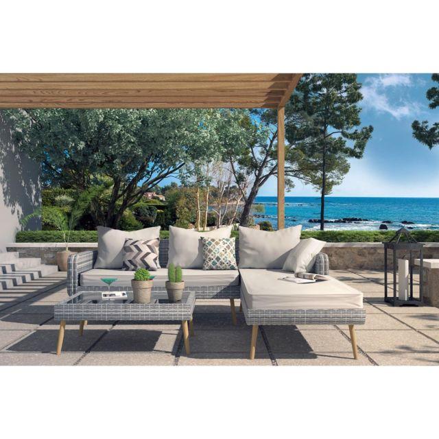 Concept Usine Vicky Salon De Jardin Scandinave 4 Places En