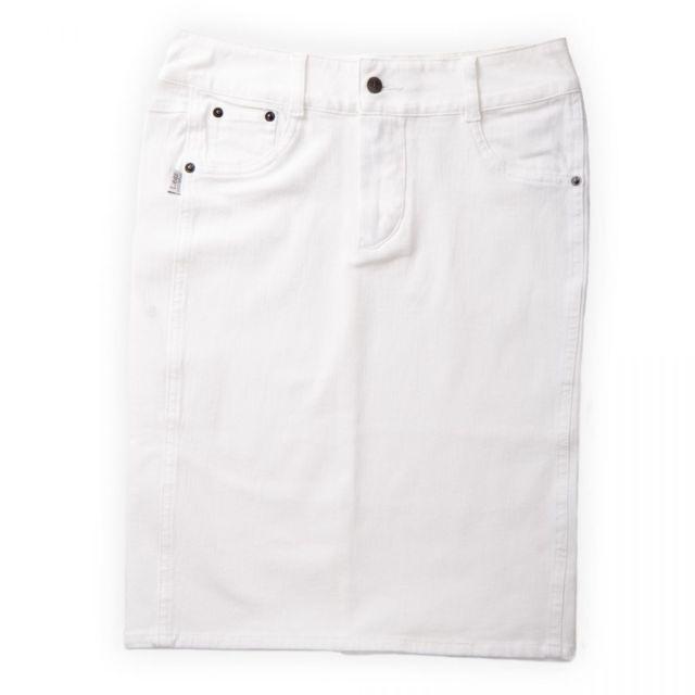nouvelle collection c3a4d 0b68c Jupe en jean blanche femme