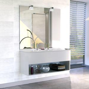 Creazur Meuble salle de bain double vasque RoséCO 120 Blanc