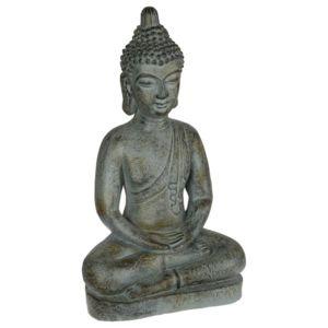 paris prix statue bouddha m ditation 66cm marron pas. Black Bedroom Furniture Sets. Home Design Ideas
