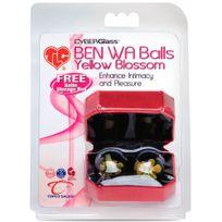 Topco - Boules De Geisha Ben Wa Cyberglass Balls Jaune Blossom