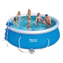 Best Way - Piscine autoportante ronde Fast Set Pool - Ø 4.57 x 1.07 m
