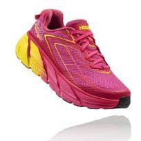 Hoka One One - Clifton 3 Rose Et Jaune Chaussures de running femme