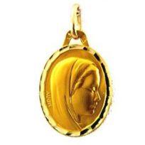 Augis - Médaille En Or à Motif Vierge