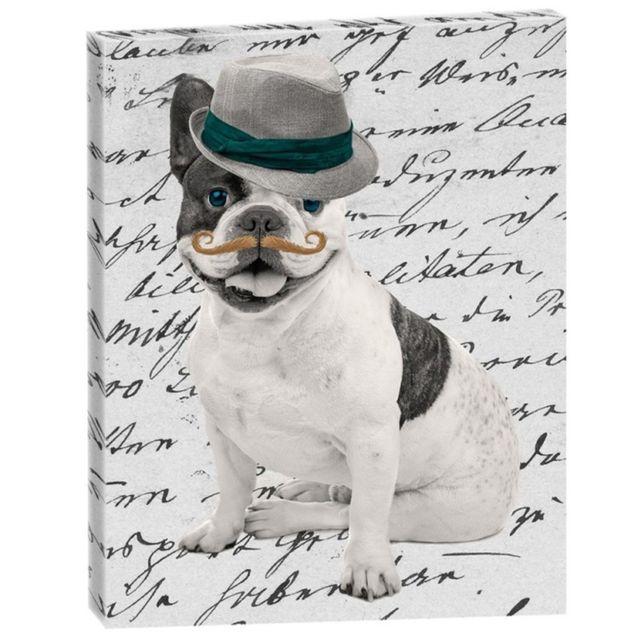 Out of the blue cadre rectangulaire en toile bulldog fabrique en france