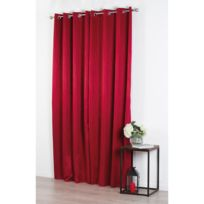 Atmosphera - Rideau Jacquard Perle - 140 x 260 cm - Rouge