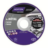 Norton - Disque de tronconnage Expert Ø 230 Epaisseur 2.5 pour meuleuse d'angle pour acier - inox-66252833050