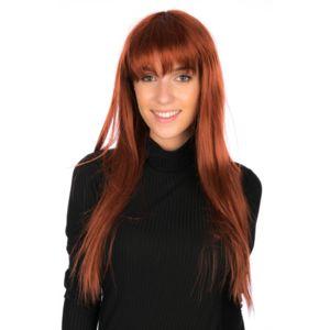 secretdressing cheveux long lisse avec filet postiche perruque femme avec frange coupe pres. Black Bedroom Furniture Sets. Home Design Ideas