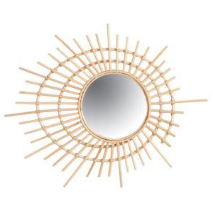 AUBRY GASPARD - Miroir spirale en rotin Multicolore - 75cm x 3cm