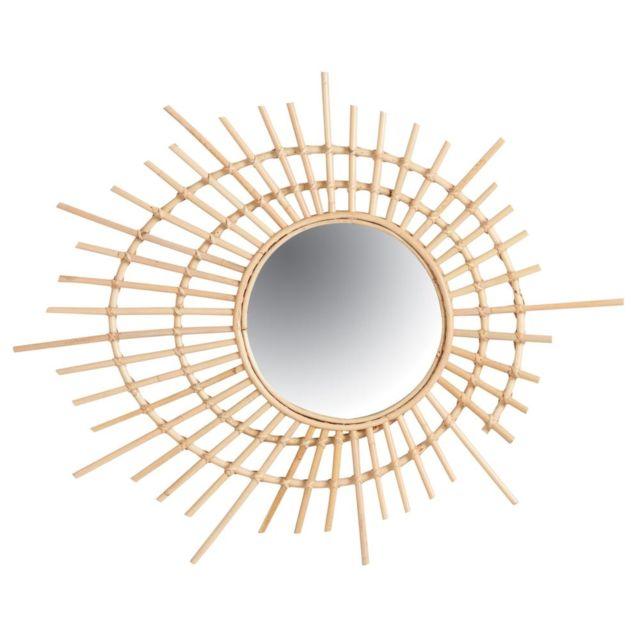aubry gaspard miroir spirale en rotin multicolore pas. Black Bedroom Furniture Sets. Home Design Ideas