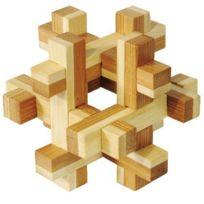 Fridolin - 17458 - Puzzle - Casse Tête Bambou - Construction - Niveau 3 Dilemme