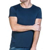BLZ Jeans - Tee-shirt homme bleu navy à col rond