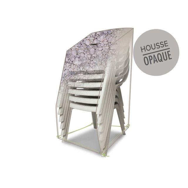 JARDIDECO Housse de protection pour piles de chaises 66 x 66 x 110 cm galets