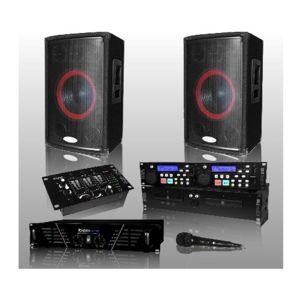 ibiza pack sono ampli hp mixage double cd micro pas cher achat vente packs. Black Bedroom Furniture Sets. Home Design Ideas