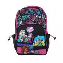 Monster High - Sac à dos scolaire Fille, Noir - 40cm