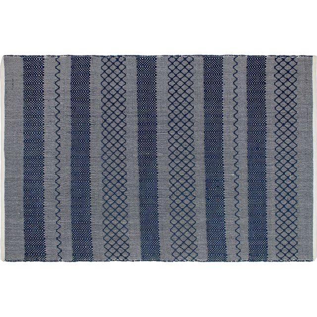 Tapis intérieur extérieur Mir bleu 90 x 60 cm