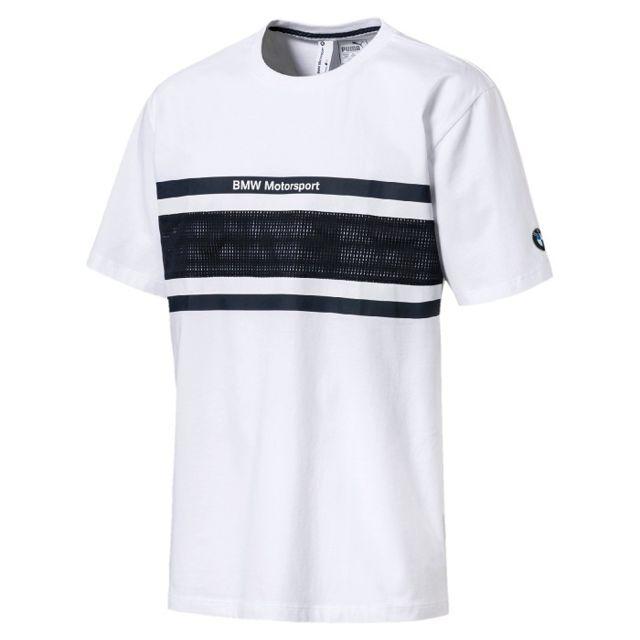 Pour Sport Shirt Blanc Motorsport 2018 Bmw Motor Homme T nPk0w8XO