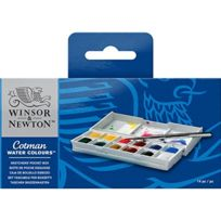 Winsor & Newton - Winsor Et Newton-1/2 Godets Aquarelle Cotman - Boite De 12