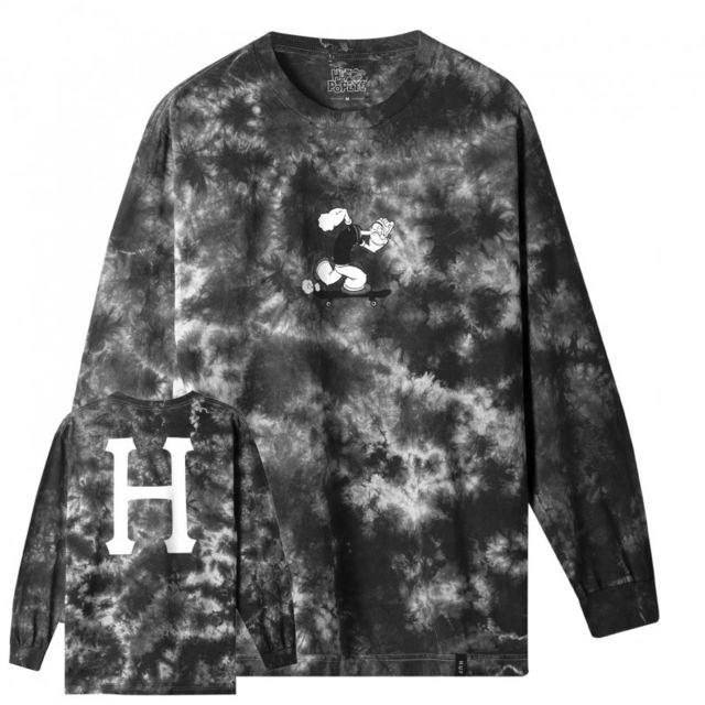 Huf T-shirt popeye skates ls, Black