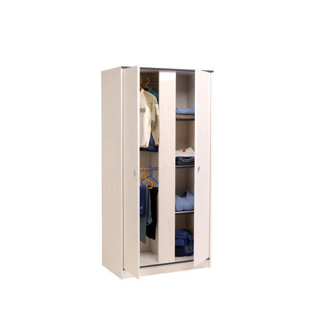 Last Meubles - Armoire 2 portes coloris réversible Fruty Rose - 51cm x 182cm x 90cm