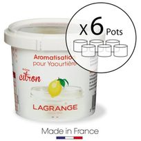Lagrange - Lot de 6 pots d'aromatisation pour yaourts Citron