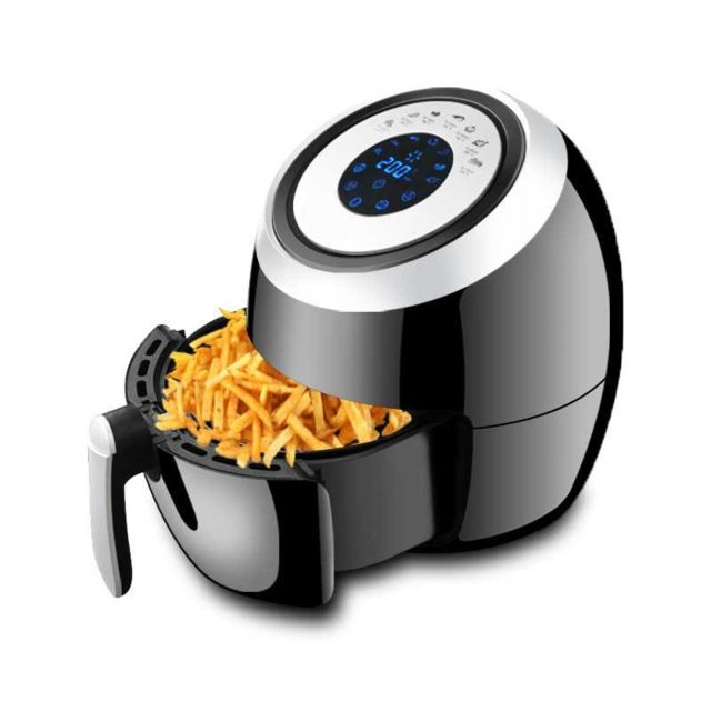 E-thinker Friteuse électrique à air chaud sans huile 3,6 L noir 1500W écran digital Noir