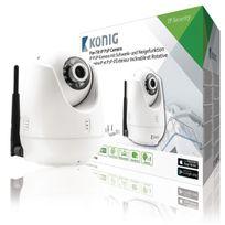 König - Hd Caméra de surveillance Ip Pan-Tilt Intérieur 720P Blanc