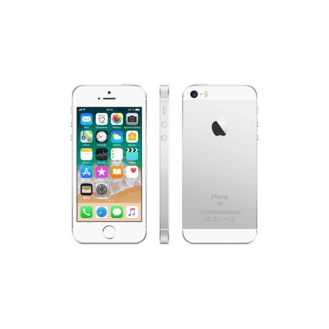 APPLE - iPhone SE - 64 Go - Argent - Reconditionné