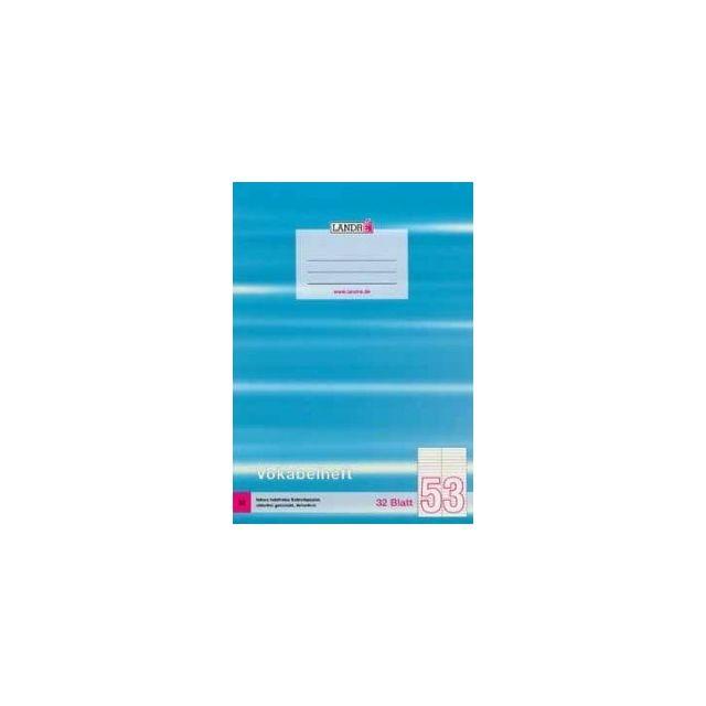 LANDRÉ Vokabelheft DIN A4 2-spaltig 32 Blatt 80 g//qm