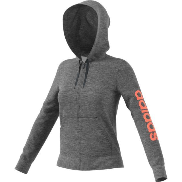 Essentials Linear Sweat Cap Femme ADIDAS GRIS pas cher