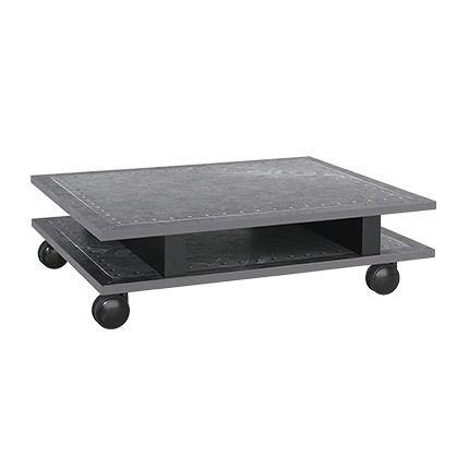Table basse avec roulettes 85x24x60cm - anthracite