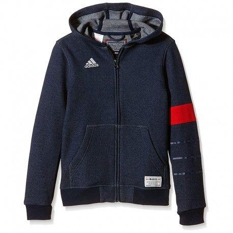 Adidas originals Sweat zippé Bleu Garçon Adidas pas cher