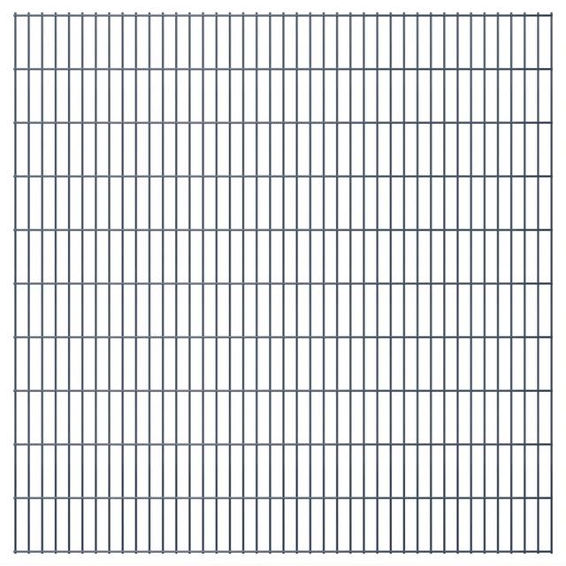 Vidaxl Panneaux de clôture 2 D jardin 2008 x 2030 mm 46 m Gris