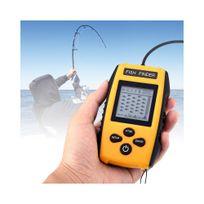 Auto-hightech - Détecteur de poissons - Sonar profondeur de 100 m, alarme poisson, sensibilité réglable,détection de taille de poisson