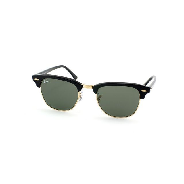 378d514567 Ray-Ban - Lunettes Rayban Rb3016 W0365 Noir et Or Clubmaster - pas ...