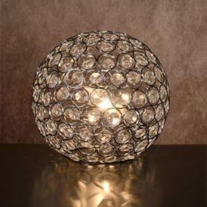 lucide lampe poser forme boule en verre transparent diam tre 20cm ayla pas cher achat. Black Bedroom Furniture Sets. Home Design Ideas