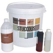 Arcane Industries - Kit stuc venitien enduit stucco spatulable décoratif Kit Stuccolis - Couleur : Cafe creme - Contenance : kit jusqu'à 7m²