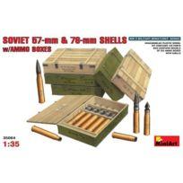 Mini Art - Accessoires militaires : Caisses de munitions avec obus et douilles de 57 mm et 76 mm soviétiques