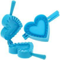 Promobo - Emporte pièce Fabrique à Chausson Moule Cuisine Forme Coeur Bleu